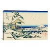 iCanvas 'Tea House at Koishikawa the Morning After a Snowfall' by Katsushika Hokusai Painting Print on Wrapped Canvas