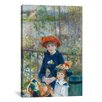 iCanvas 'Two Sisters (On the Terrace) 1881' by Pierre-Auguste Renoir Painting Print on Canvas