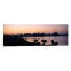 iCanvas Panoramic Silhouette of Buildings at the Waterfront, San Diego, San Diego Bay, San Diego County, California Photographic Print on Wrapped Canvas