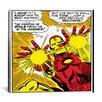 iCanvas Marvel Comics Book Iron Man Panel Art B Graphic Art on Wrapped Canvas