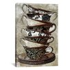 """iCanvas Color Bakery """"Tea I"""" Painting Print on Wrapped Canvas"""