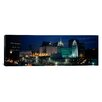 iCanvas Panoramic Temple Lit up at Night, Mormon Temple, Salt Lake City, Utah Photographic Print on Wrapped Canvas