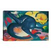 iCanvas 'Two Cats (Blue and Yellow)' by Franz Marc Painting Print on Wrapped Canvas