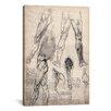 iCanvas 'Sketchbook Studies of Human Legs' by Leonardo da Vinci Painting Graphic Art on Wrapped Canvas