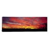 iCanvas Panoramic Silhouette of Palm Trees at Sunrise, San Diego, San Diego County, California Photographic Print on Wrapped Canvas