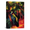 iCanvas 'Sunny Way' by August Macke Painting Print on Wrapped Canvas