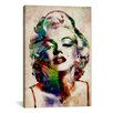 iCanvas 'Watercolor Marilyn Monroe' by Michael Tompsett Graphic Art on Canvas