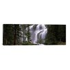 iCanvas Panoramic Waterfall in a Forest, Banff, Alberta, Canada Photographic Print on Canvas