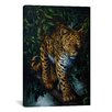 "iCanvas Decorative Art ""Watchful Eyes (Tiger)"" by Jenny Newland Painting Print on Wrapped Canvas"