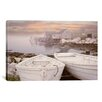 """iCanvas """"Two Boats at Sunrise, Nova Scotia '11"""" by Monte Nagler Photographic Print on Wrapped Canvas"""