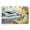 iCanvas 'Whaling off Goto from Oceans of Wisdom 1834' by Katsushika Hokusai Painting Print on Canvas