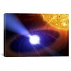 iCanvas Astronomy and Space White Dwarf Orbiting Sun Photographic Print on Wrapped Canvas