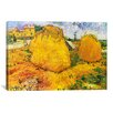 iCanvas 'Wheat Stacks in Provence' by Vincent Van Gogh Painting Print on Wrapped Canvas