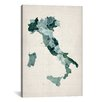 iCanvas 'Watercolor Map of Italy' by Michael Thompsett Graphic Art on Wrapped Canvas