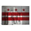 iCanvas Flags Washington, D.C. Lincoln Memorial Graphic Art on Wrapped Canvas