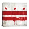 iCanvas Flags Washington, D.C Paint Drips with Paper Grunge Graphic Art on Canvas