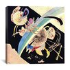 "iCanvas ""Study for Circles on Black"" Canvas Wall Art by Wassily Kandinsky"