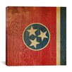 iCanvas Flags Tennessee Wood Planks Graphic Art on Canvas