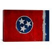 iCanvas Flags Tennessee Wood Planks with Splatters Graphic Art on Canvas