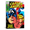 iCanvas Marvel Comics Book Captain America Issue Cover Graphic Art on Canvas