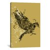 iCanvas 'Tattooed Bird' by Budi Satria Kwan Graphic Art on Canvas