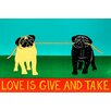 iCanvas Love Is Give and Take Black Canvas Print Wall Art