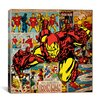 iCanvas Marvel Comics Iron Man Cover and Panel Graphic Art on Canvas