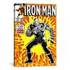 iCanvas Marvel Comics Book Iron Man Issue Cover #191 Graphic Art on Wrapped Canvas