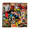 iCanvas Marvel Comics Book Thor on Thor Covers and Panels Graphic Art on Canvas