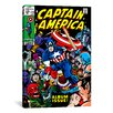 iCanvas Marvel Comics Book Captain America Issue Cover #112 Graphic Art on Wrapped Canvas