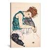 iCanvas Egon Schiele Seated Woman with Bent Knee II Canvas Print Wall Art