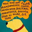iCanvas Dogs Can Only Learn a Few Words Black by Stephen Huneck Graphic Art on Canvas