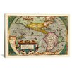 iCanvas Antique Map of the Americas (1598) by Abraham Ortelius Graphic Art on Canvas in Color