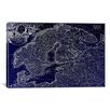 iCanvas Antique Map of Scandanavia by Matthaus Seutter Graphic Art on Canvas in Negative