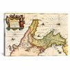 iCanvas Antique Map of Italy (1649) by Joan Janssonius Graphic Art on Canvas in Beige