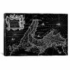 iCanvas Antique Map of Italy (1649) by Joan Janssonius Graphic Art on Wrapped Canvas in Black