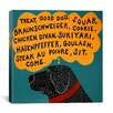 iCanvas Dogs Can Only Learn a Few Words Black by Stephen Huneck Graphic Art on Wrapped Canvas