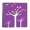 iCanvas Autumn Trees Graphic Art on Wrapped Canvas in Purple