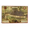iCanvas Antique Map of London (1572) by Georg Braun Graphic Art on Wrapped Canvas in Beige