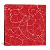 iCanvas Dashes by Erin Clark Graphic Art on Canvas in Red