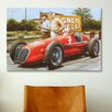iCanvas Cars and Motorcycles Red Masarati Vintage Drawing Painting Print on Canvas