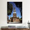 iCanvas Political Independence Hall Building Photographic Print on Canvas