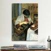 iCanvas 'Elisabeth Gerhardt Sewing' by August Macke Painting Print on Canvas