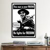 iCanvas He Fights for Freedom - Englishman - WWII Vintage Advertisement on Canvas