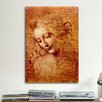 "iCanvas ""Female Head"" by Leonardo da Vinci Painting Print on Canvas"