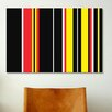 iCanvas Ferrari Badge Striped Graphic Art on Canvas