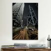 iCanvas Hong Kong Skyscrapers at Night Cityscape Photographic Print on Canvas