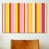 iCanvas Striped Art Fruity Ice Cream Desert Graphic Art on Canvas