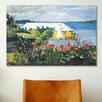 iCanvas 'Flower Garden and Bungalow, Bermuda 1899' by Winslow Homer Painting Print on Canvas