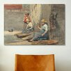 iCanvas 'Fishergirls Coiling Tackle 1881' by Winslow Homer Painting Print on Canvas